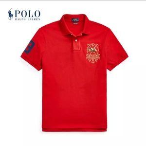 Polo Ralph Lauren Boys Red Equestrian Polo NWT